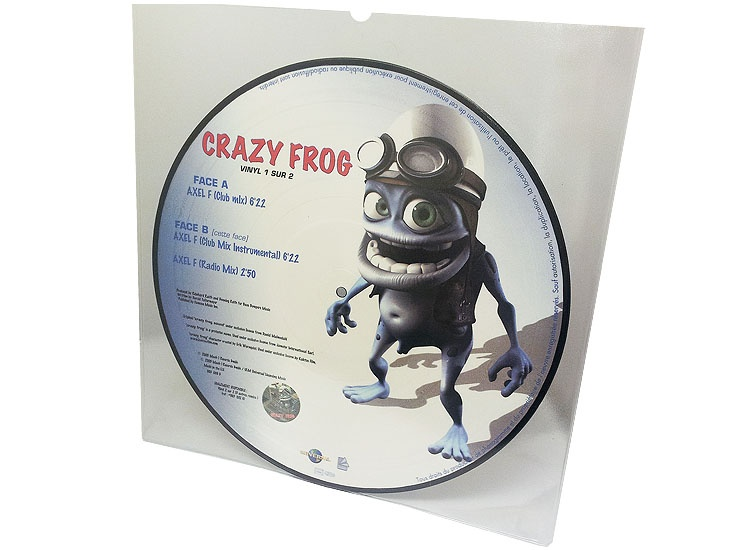 12 inch picture disc vinyl pressing in PVC sleeve Crazy Frog