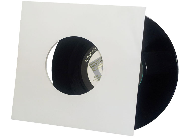7 inch vinyl pressing white paper inner