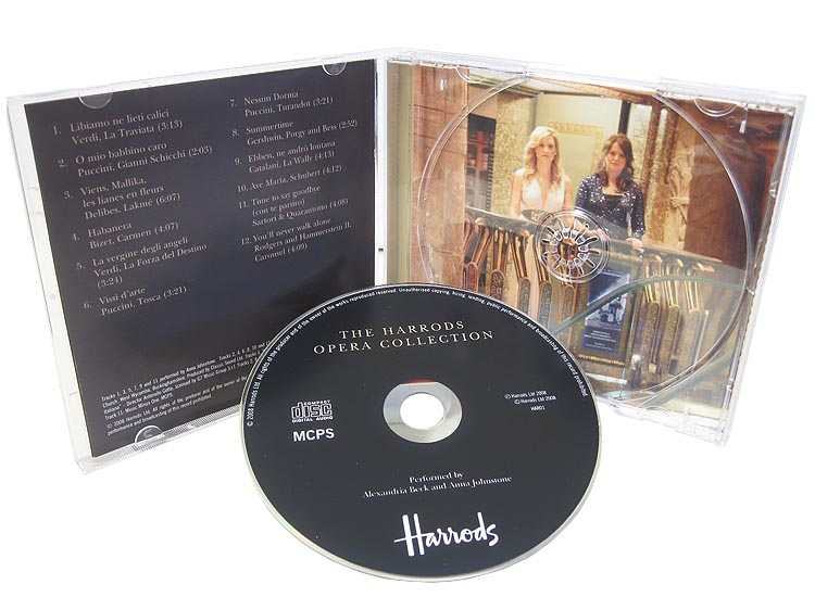 Harrods CD jewel case with CD and booklet