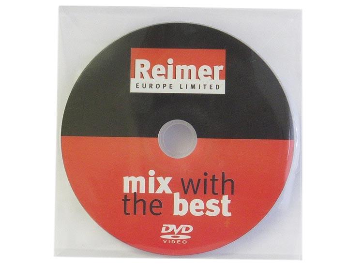 DVD duplication in clear plastic wallet