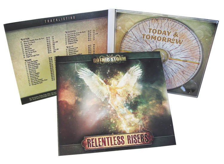 4 panel CD digipack clear tray