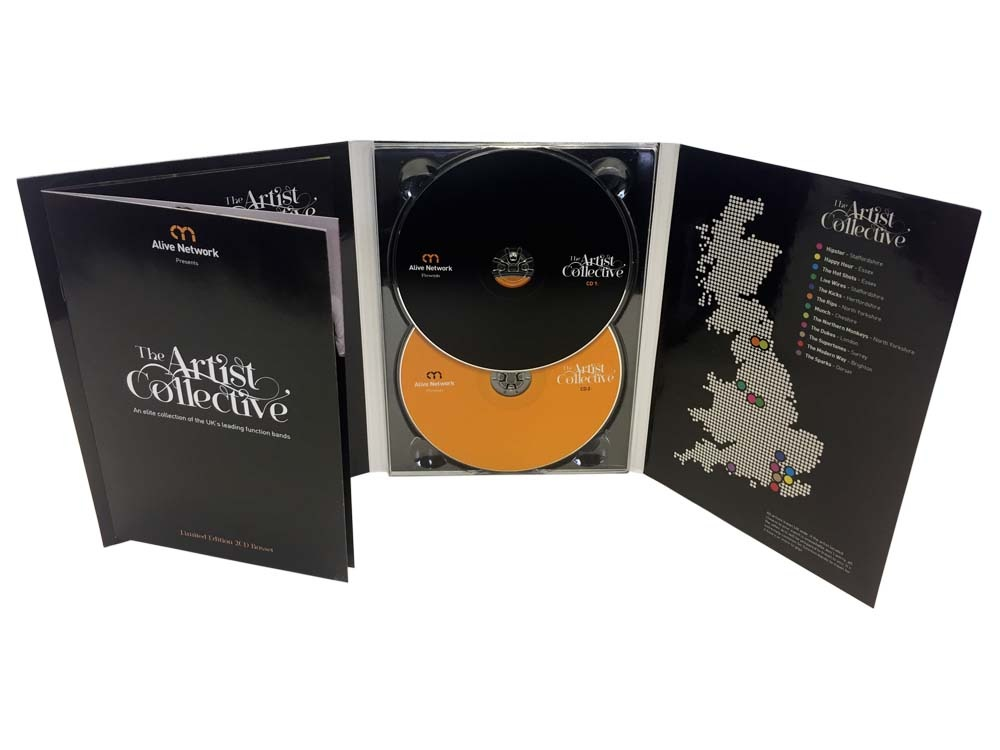 6 panel DVD digipack 2 discs & glued booklet
