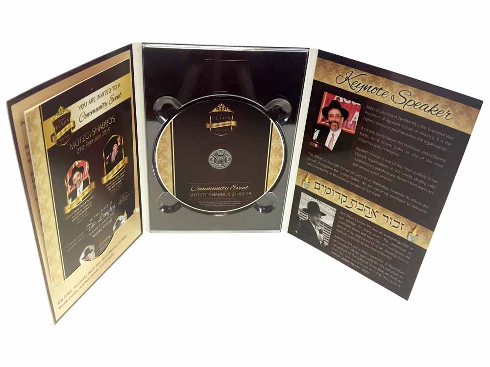 DVD digipack 6 panel 1 discs & booklet insert