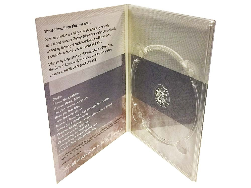 4 panel DVD digipack with clear DVD tray