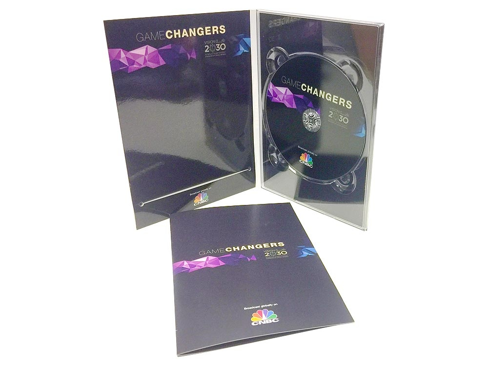4 panel DVD digipack with booklet insert
