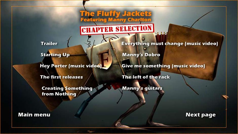 The Fluffy jackets 2 DVD menu
