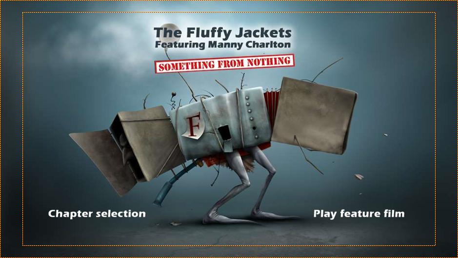The Fluffy jackets DVD menu