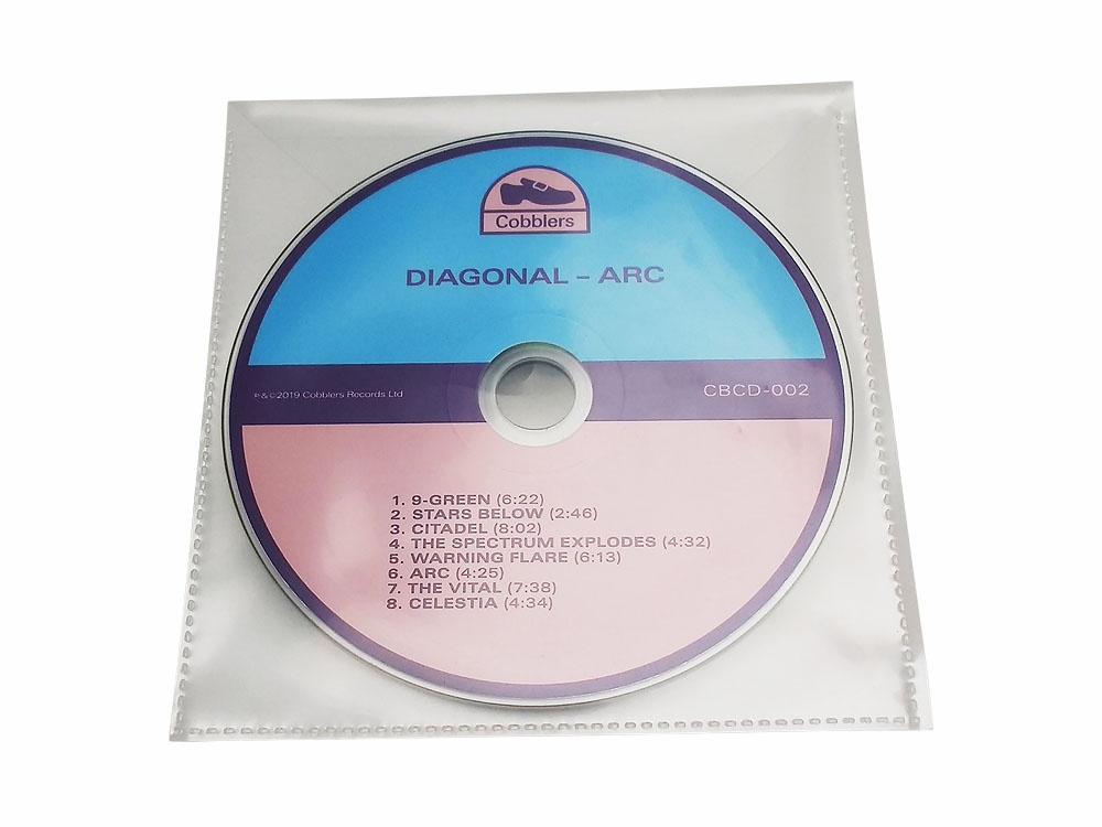 CD in clear PVC wallet