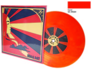 7 inch carrot orange colour vinyl and sleeve Zella Day