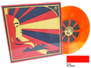 carrot orange colour vinyl 7 inch printed sleeve with no spine Zella Day