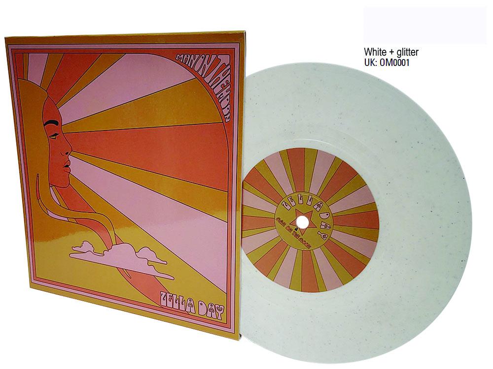white glitter 7 inch colour vinyl in sleeve Zella Day