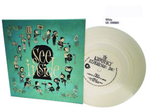 7 inch white vinyl with full colour printed sleeve