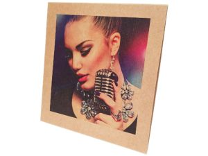 7 inch full colour kraft board sleeve